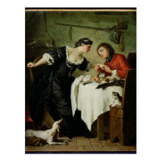 Le faucon, des fables de Fontaine Carte Postale