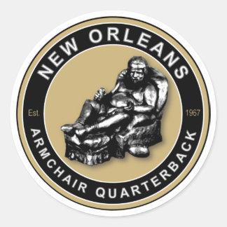 Le FAUTEUIL QB - la Nouvelle-Orléans Sticker Rond