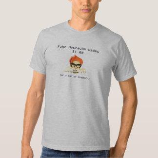 Le faux 'Stache monte $1,00… T-shirts