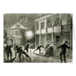 Le Federals écossant la ville de Charleston Carte De Vœux