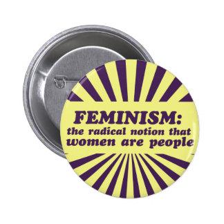 Le féminisme badge rond 5 cm