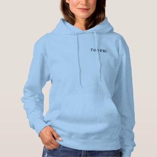 Le féminisme dans les bleus layette pull à capuche