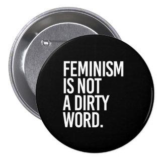Le féminisme n'est pas un vilain mot - - le blanc badge