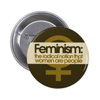 Le féminisme pour des femmes badge rond 5 cm