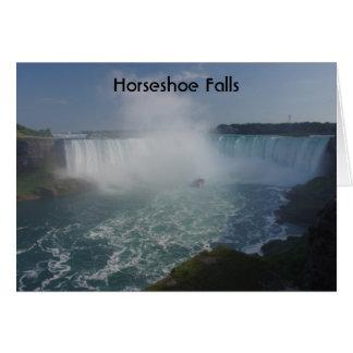 Le fer à cheval tombe dans les chutes du Niagara Cartes De Vœux