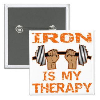 Le fer est ma thérapie - haltérophilie badges