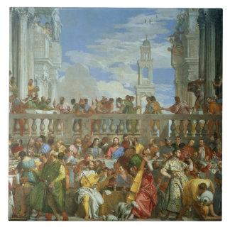 Le festin de mariage chez Cana, c.1562 (huile sur  Grand Carreau Carré