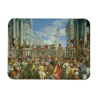 Le festin de mariage chez Cana, c.1562 (huile sur  Magnets Rectangulaires