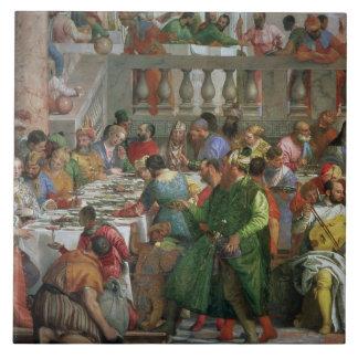 Le festin de mariage chez Cana, détail de régaler  Grand Carreau Carré