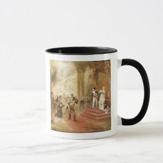 Le feu à l'ambassade autrichienne (huile sur la mug