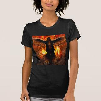 Le feu abstrait d'enfer d'ange t-shirts