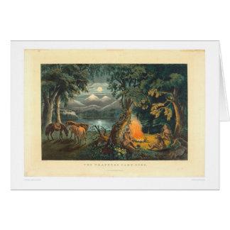 Le feu de camp 1866 (1779A) du trappeur Carte De Vœux