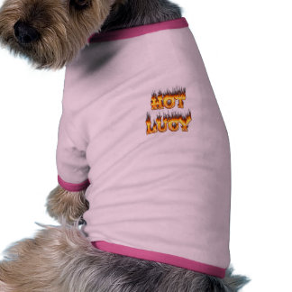 Le feu de Lucy et chemise chauds de chien de flamm Manteaux Pour Chien