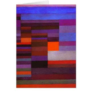 Le feu de Paul Klee dans la carte de note de