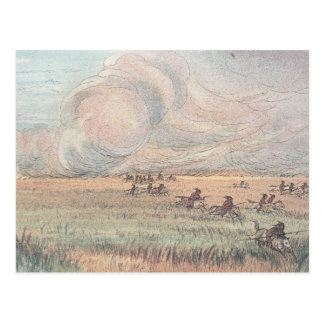 Le feu de prairie du Missouri Carte Postale