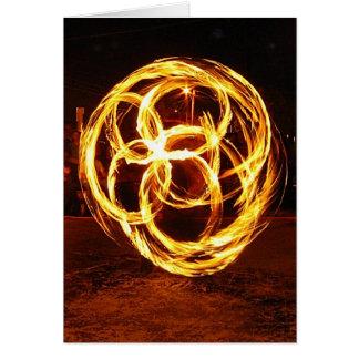 Le feu de rotation - noeud celtique carte de vœux