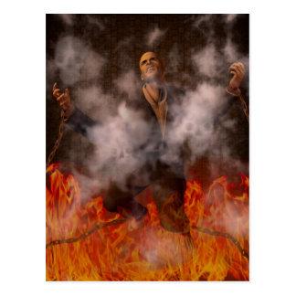 Le feu d'enfer cartes postales