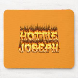 Le feu et flammes de Hottie Joseph Tapis De Souris