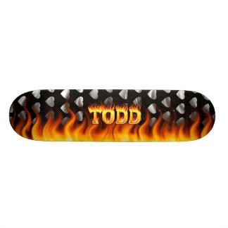 Le feu et flammes de Hottie Todd Planches À Roulettes