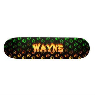 Le feu et flammes de Hottie Wayne Skateboard 21,6 Cm