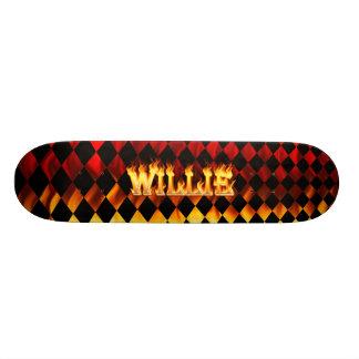 Le feu et flammes de Hottie Willie Plateaux De Skateboards Customisés