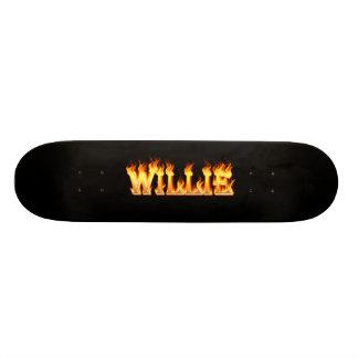 Le feu et flammes de Hottie Willie Skateboard 21,6 Cm