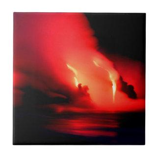 Le feu et glace Kona Hawaï de volcan Petit Carreau Carré