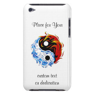 Le feu frais Yin Yang de l eau de symbole de tatou Coque iPod Case-Mate