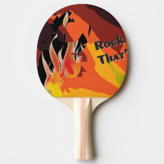 Le feu raquette tennis de table