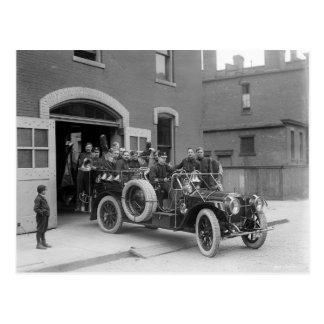 Le feu Squad, 1911 de Packard Carte Postale
