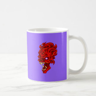 Le feu tête de mort crâne skull fire tasses à café