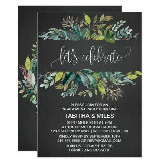 Le feuillage de tableau laisse célébrer la partie carton d'invitation  12,7 cm x 17,78 cm