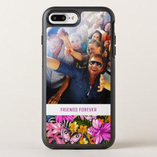 Le feuille et les fleurs tropicaux | ajoutent coque otterbox symmetry pour iPhone 7 plus