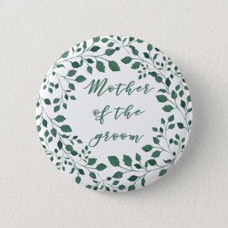Le feuille vert tresse la mère de   du marié badge