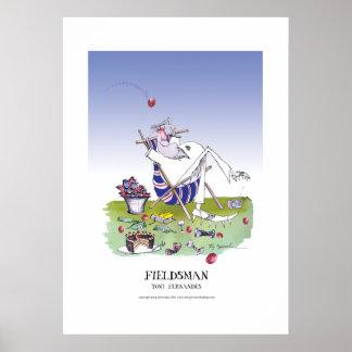 le fieldsman, affiche élégante de fernandes posters