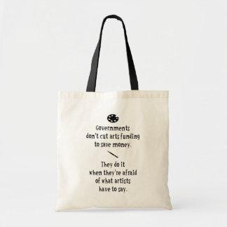 Le financement d'arts sacs de toile