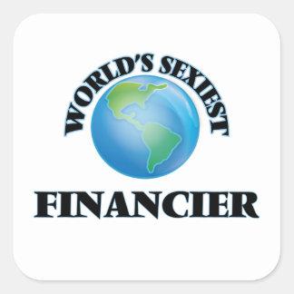 Le financier le plus sexy du monde autocollant carré