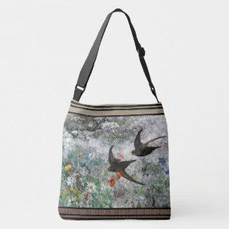 Le fleur sauvage d'oiseaux d'hirondelle fleurit le sac