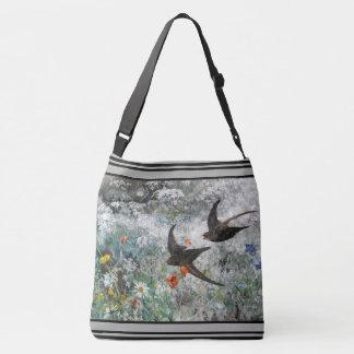 Le fleur sauvage d'oiseaux d'hirondelle fleurit le sac ajustable