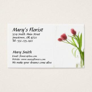 Le fleuriste fleurit le carte de visite