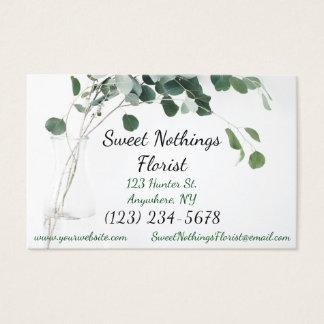 Le fleuriste floral de carte de visite laisse