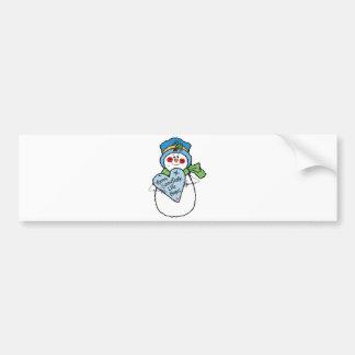 le flocon de neige aiment le bonhomme de neige à l autocollant pour voiture