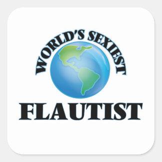 Le flûtiste le plus sexy du monde sticker carré