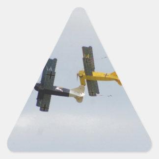Le Fokker D.VII modèle en vol Sticker En Triangle