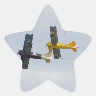 Le Fokker D.VII modèle en vol Autocollants En Étoile