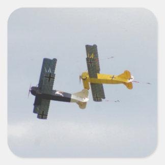 Le Fokker D.VII modèle en vol Autocollants Carrés