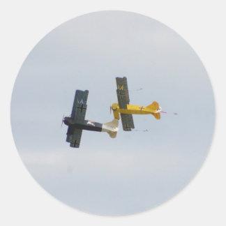 Le Fokker D.VII modèle en vol Autocollant Rond