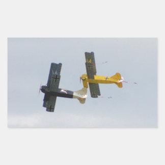 Le Fokker D.VII modèle en vol Sticker Rectangulaire