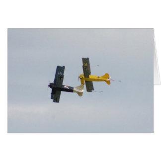 Le Fokker D.VII modèle en vol Cartes De Vœux