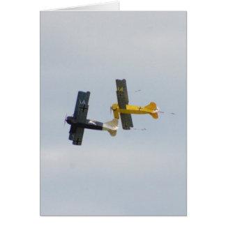 Le Fokker D.VII modèle en vol Carte De Vœux